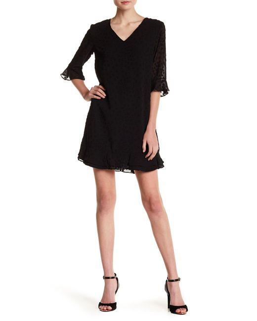 Cece by Cynthia Steffe - Black Kate Textured Ruffle Dress - Lyst