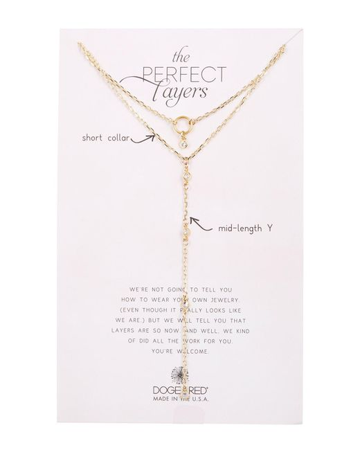 Dogeared - Metallic Perfect Layers Y-drop Necklace - Set Of 2 - Lyst