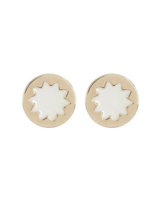House of Harlow 1960 | White Sunburst Button Earrings | Lyst