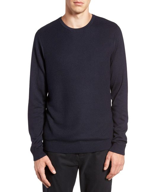 Calibrate - Blue Honeycomb Stitch Crewneck Sweater for Men - Lyst