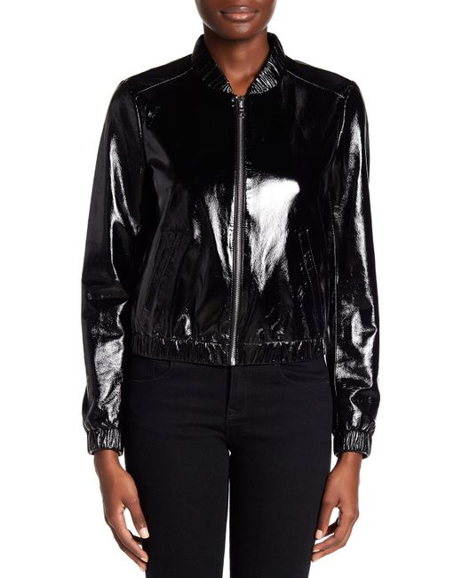 Blanc noir leather jacket