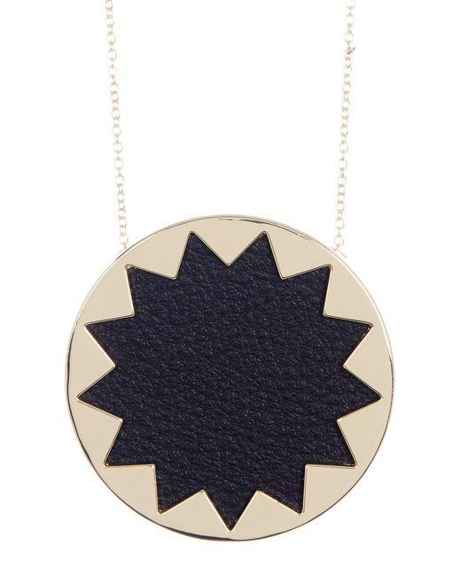 House of Harlow 1960 - Multicolor Leather Detail Sunburst Pendant Necklace - Lyst