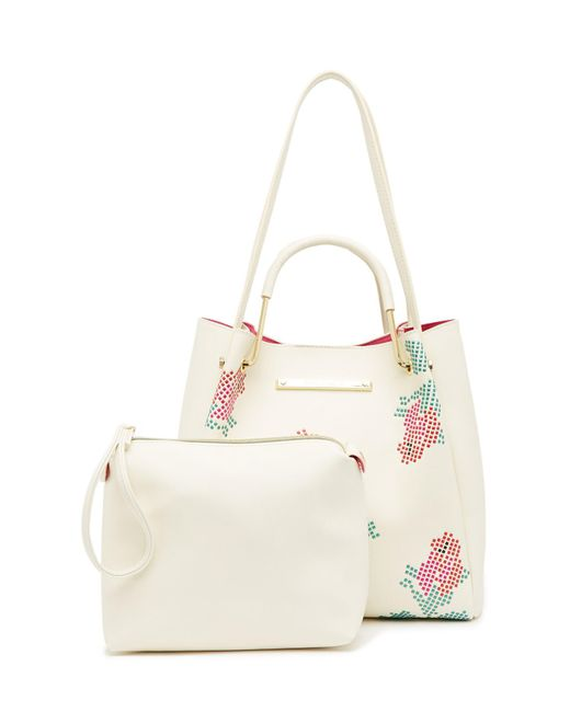 Betsey Johnson - Pink Rose Studded Tote - Lyst
