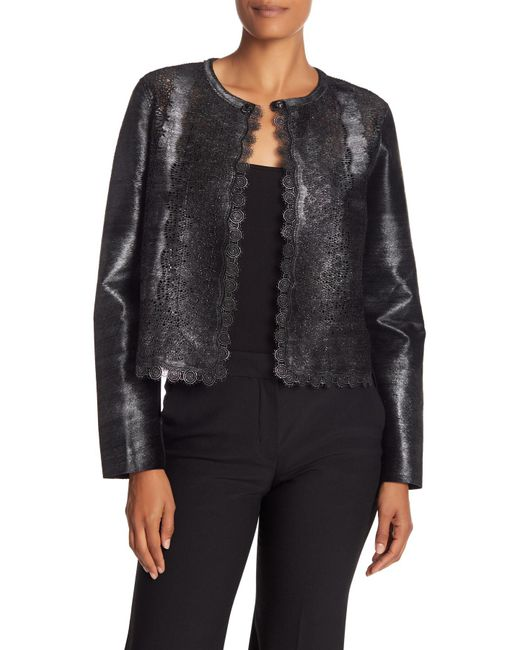 Elie Tahari - Black Karlene Genuine Fur Jacket - Lyst