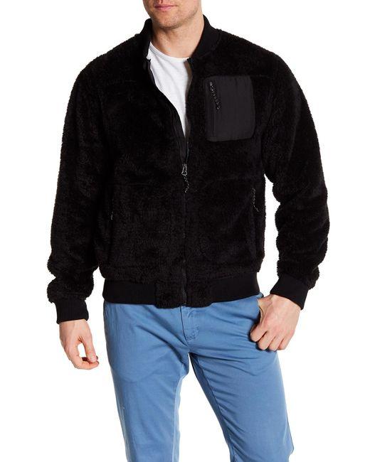 Hawke & Co. - Black Front Zip Fleece Jacket for Men - Lyst