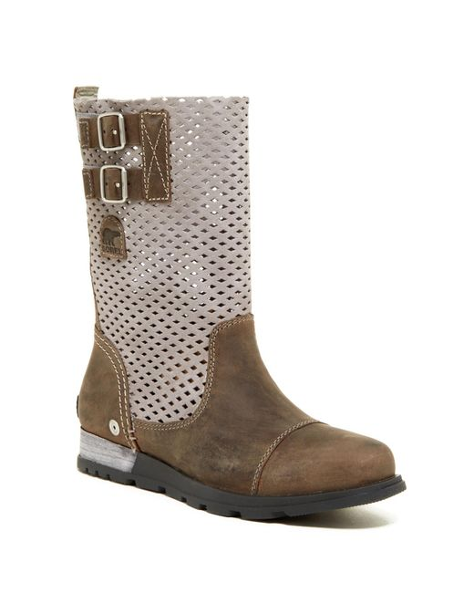Sorel   Gray Major Pull-on Perforated Boot (women)   Lyst
