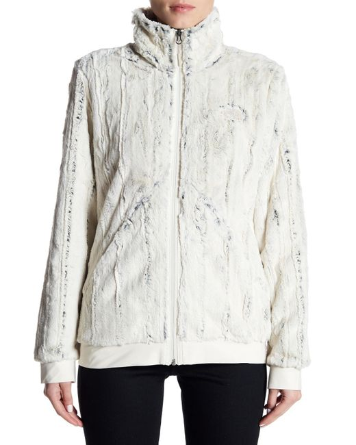 330daee189c8 The North Face White Faux Fur Lander Full Zip Jacket Lyst .