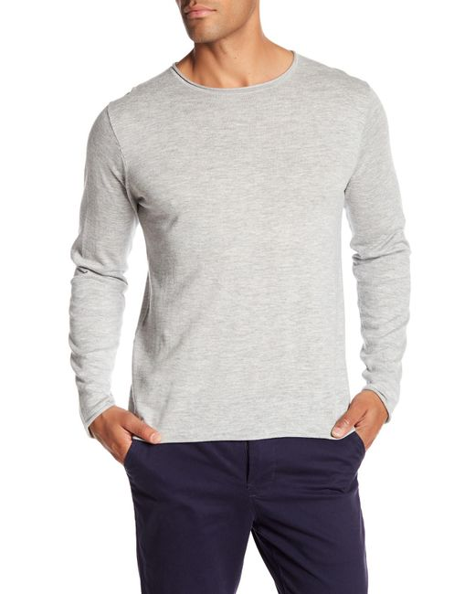 Loft 604 - Gray Crew Neck Long Sleeve Pullover Shirt for Men - Lyst