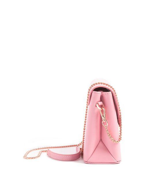 4db710b72 ... Ted Baker - Pink Moniica Crystal Bar Leather Crossbody Bag - Lyst ...