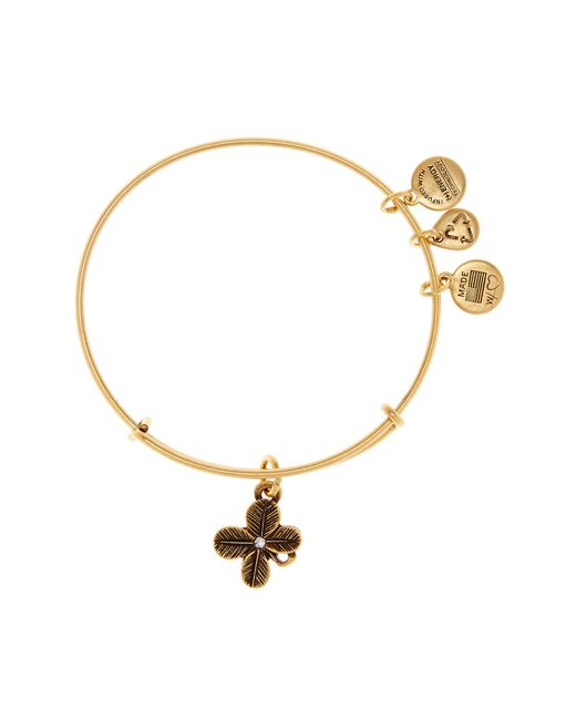 ALEX AND ANI - Metallic Lucky Clover Expandable Wire Bangle - Lyst