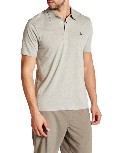 Volcom | Gray Banger Polo Shirt for Men | Lyst