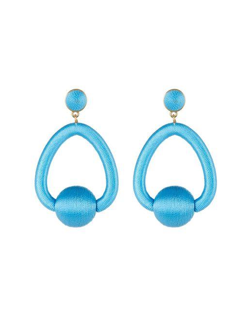 BaubleBar - Blue Mariela Woven Hoop Drop Earrings - Lyst