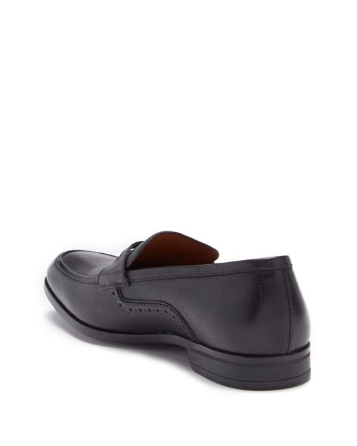 6c29c939257 ... Bally - Black Lauto Embossed Leather Penny Loafer for Men - Lyst ...