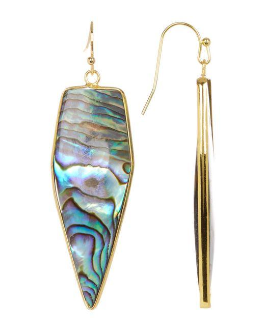 Panacea | Multicolor Abalone Arrow Drop Earrings | Lyst