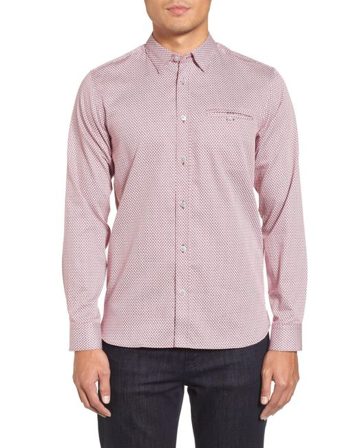 Ted Baker - Purple Vilamor Extra Slim Fit Print Sport Shirt for Men - Lyst
