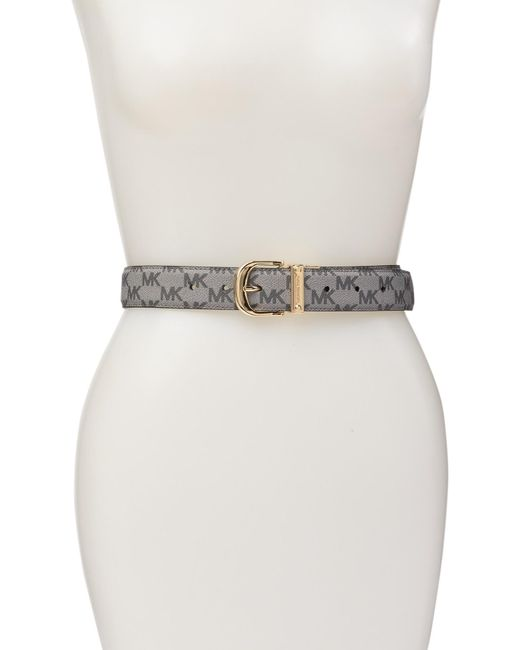 8499541d5ddf5 Michael Kors - Black Reversible Leather Belt - Lyst ...