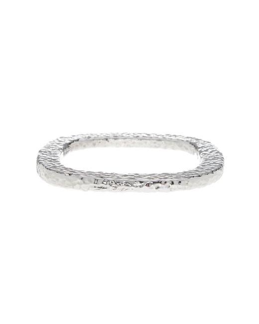 Simon Sebbag - Metallic Sterling Silver Textured Square Bangle - Lyst