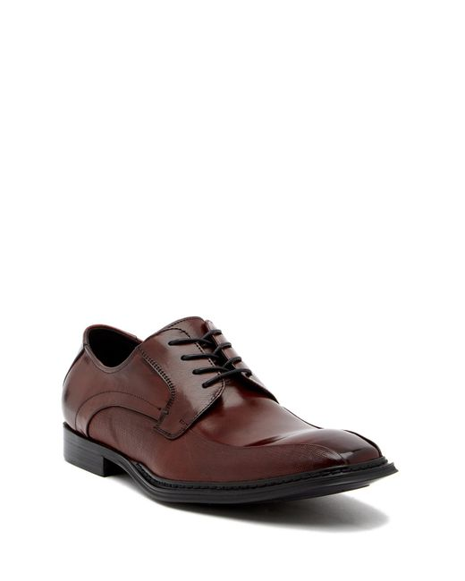 Kenneth Cole Reaction - Brown Bike Toe Saffino Derby for Men - Lyst