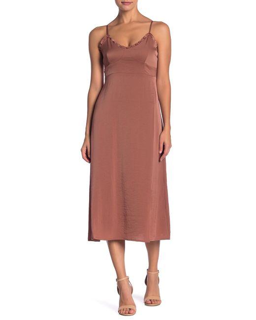 Line & Dot - Pink Ali Ruffle Trim Dress - Lyst