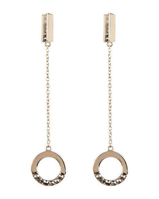 Judith Jack | Metallic Gold Plated Crystal & Marcasite Detail Drop Circle Earrings | Lyst