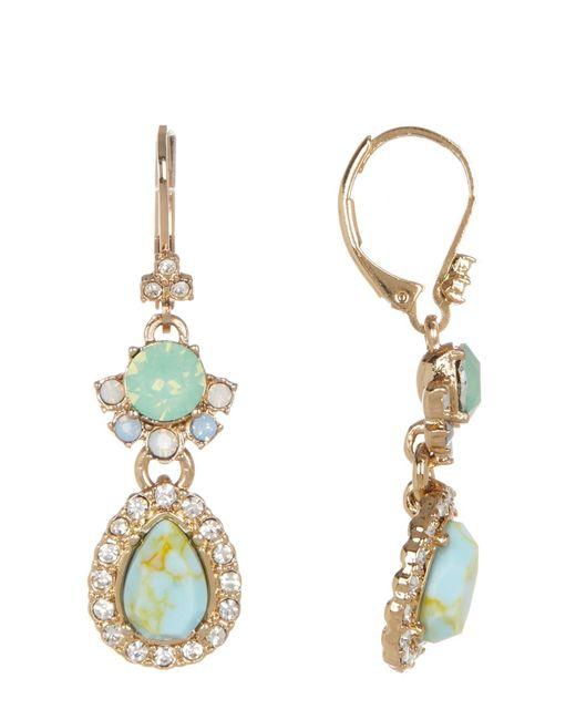 Marchesa | Metallic Double Drop Earrings | Lyst