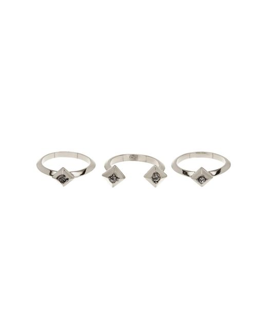 House of Harlow 1960 | Metallic Accented Pyramid Stacked Ring Set - Set Of 3 - Size 7 | Lyst