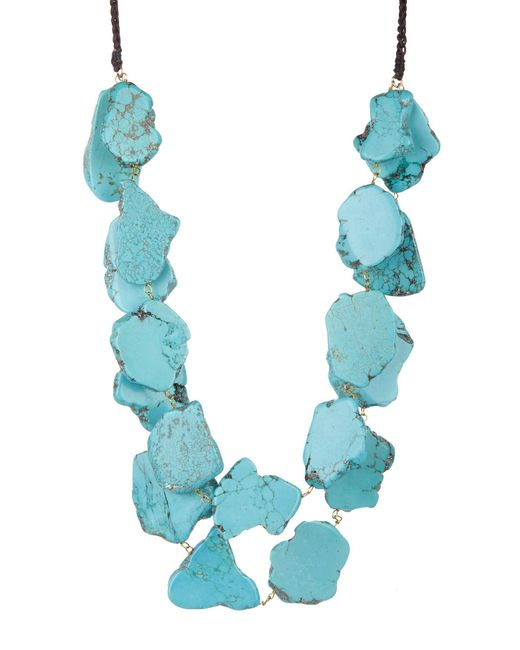 Panacea - Blue Chunky Turquoise Double Row Necklace - Lyst