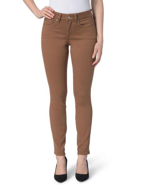 NYDJ - Brown Ami Colored Stretch Skinny Jeans (petite) - Lyst