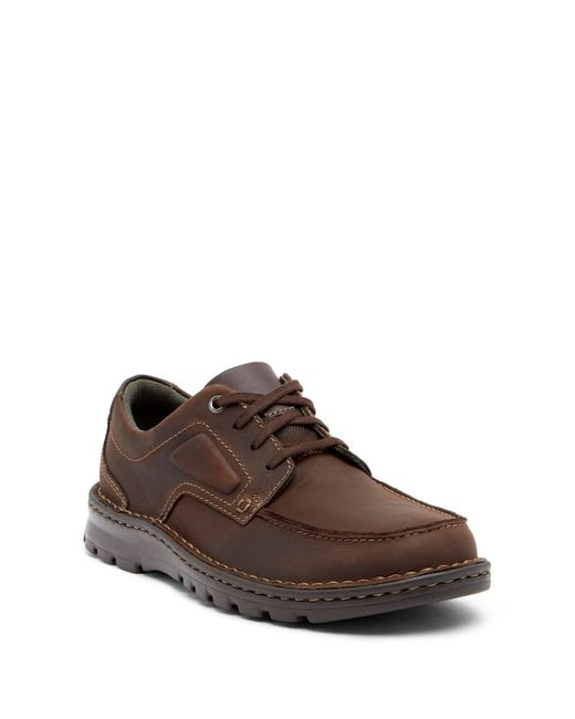 Clarks   Brown Vanek Apron Toe Leather Sneaker for Men   Lyst
