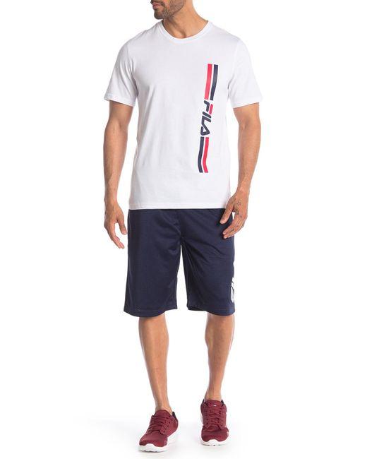 97eb40f24077d ... Fila - Blue Dazzle Mesh Shorts for Men - Lyst ...