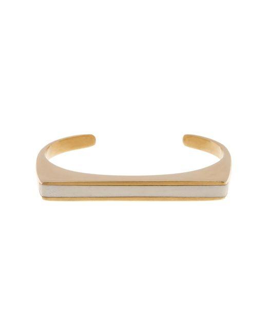 Soko | White Horn Inlay Line Cuff Bracelet - Medium | Lyst