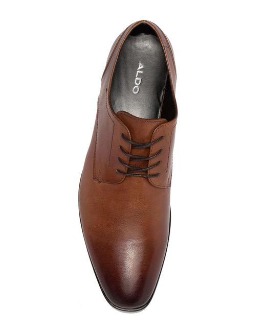 0d47fce1e3b4 ... ALDO - Brown Sevirari Leather Burnished Derby for Men - Lyst ...