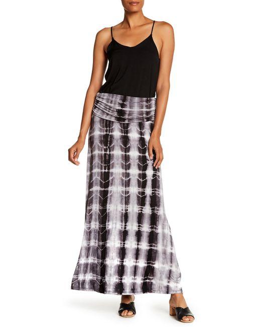 c2536e0a041 Bobeau - Black Convertible Knit Maxi Skirt - Lyst ...