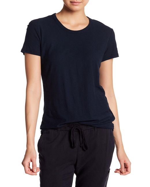 James Perse - Blue Short Sleeve Crew Tee - Lyst