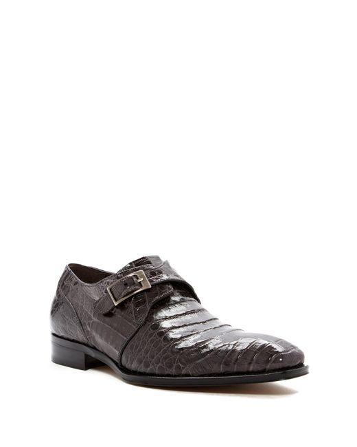 Mezlan   Gray Gables Genuine Crocodile Monk Strap Shoe for Men   Lyst