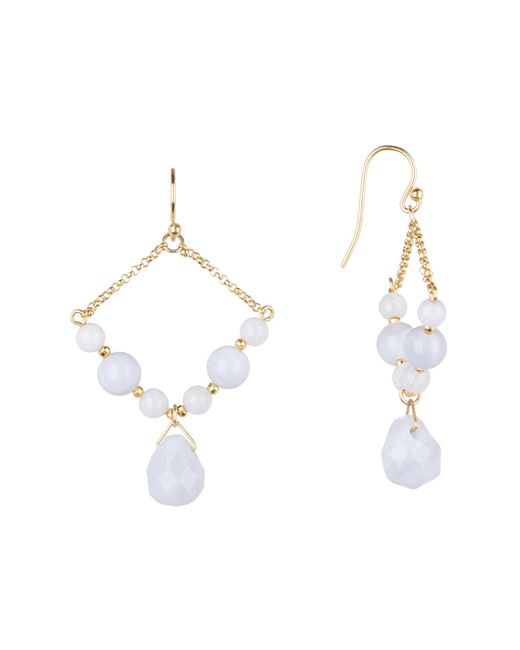 Chan Luu - Blue Lace Agate Beaded Dangle Earrings - Lyst