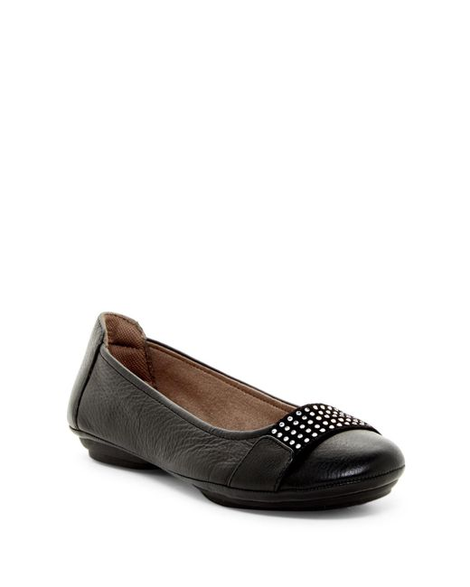 Comfortiva | Black Sallis Jewel Embellished Flat - Wide Width Available | Lyst