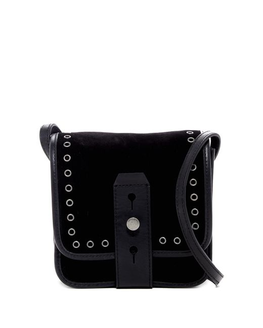Lucky Brand - Black Rose Small Suede Crossbody Bag - Lyst