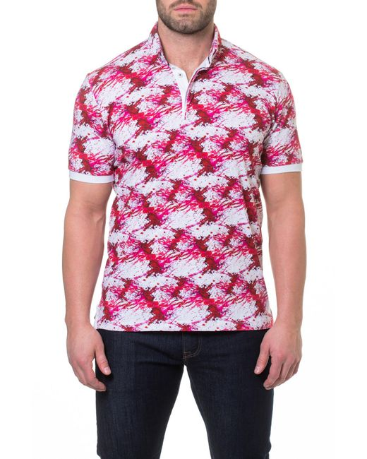 Maceoo - Red Dexter Print Polo for Men - Lyst