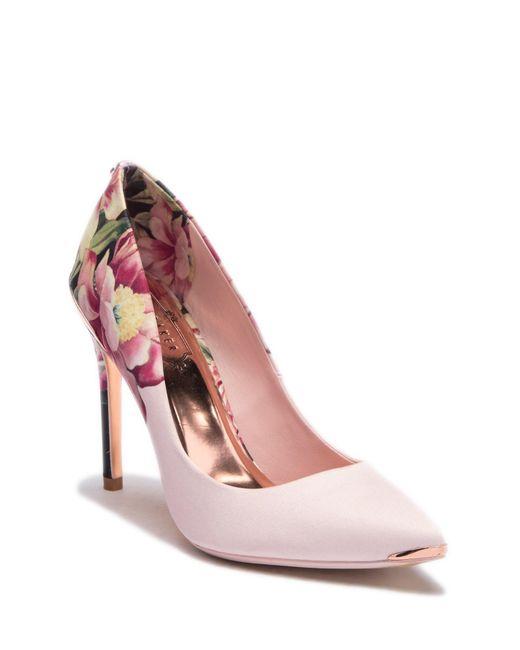 Ted Baker - Pink Kawaap Floral Print Pump - Lyst