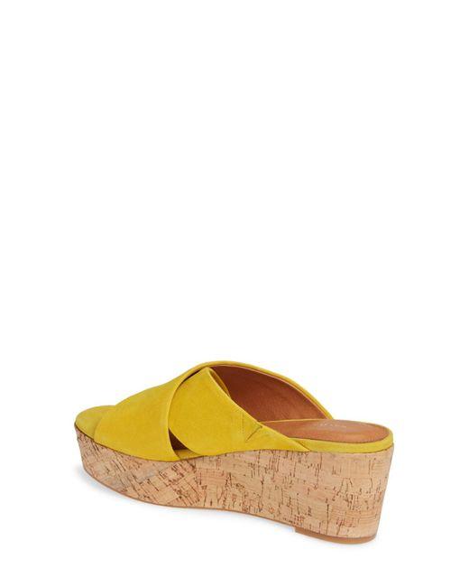 43794b991df ... Halogen - Yellow (r) Elena Platform Wedge Sandal (women) - Lyst