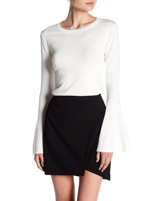 Sweet Romeo - White Bell Sleeve Pullover Sweater - Lyst