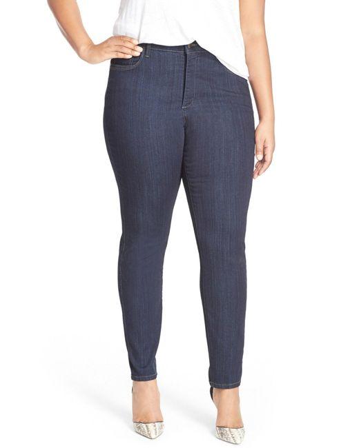 NYDJ - Blue 'ami' Stretch Skinny Jeans - Lyst