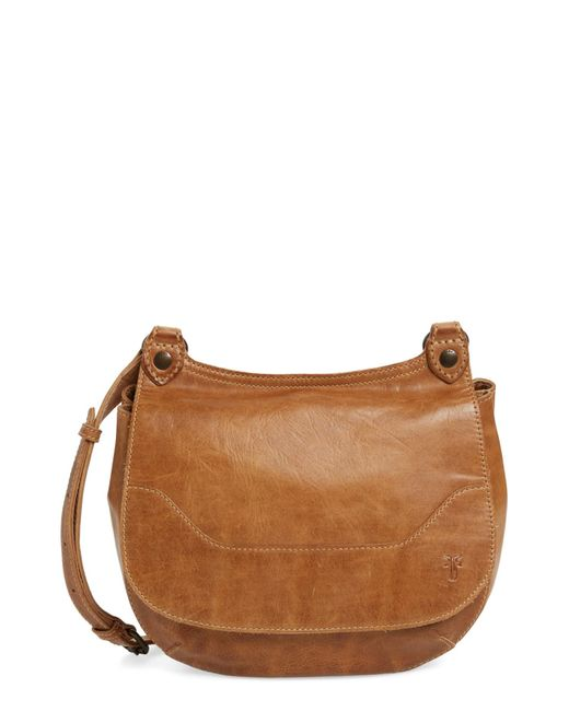 Frye | Natural Melissa Leather Foldover Crossbody | Lyst
