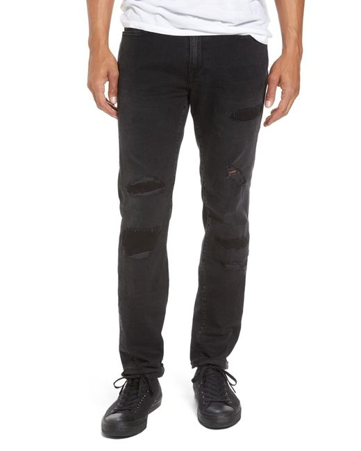 FRAME - Black L'homme Skinny Fit Jeans (buxton) for Men - Lyst