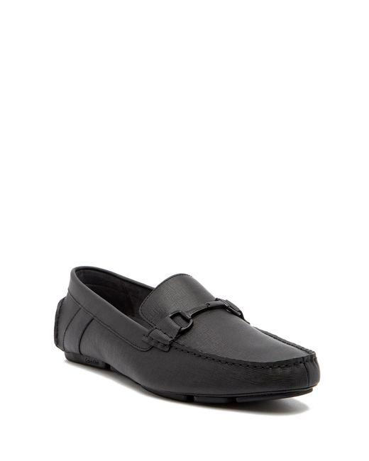 Calvin Klein - Black Mox Leather Loafer for Men - Lyst