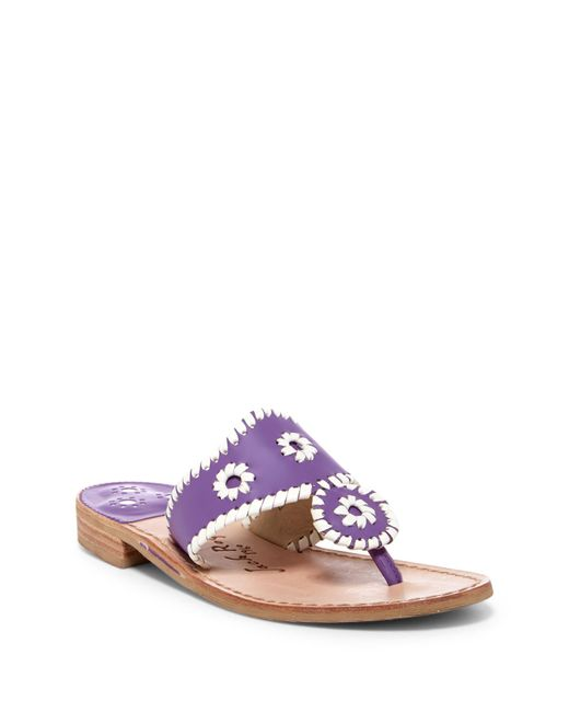 Jack Rogers - Multicolor Whipstitched Thong Sandal - Lyst