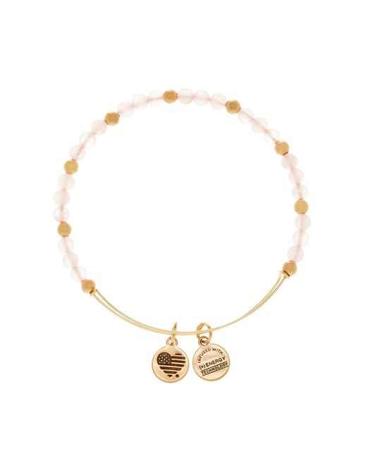 ALEX AND ANI | Metallic Color Classics Fairy Beaded Extendable Wire Bangle | Lyst