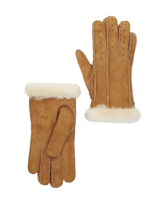 Ugg - Multicolor Classic Perforated Genuine Dyed Shearling Gloves - Lyst