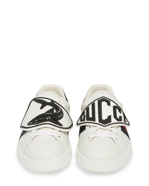 44ff06baf16 ... Gucci - Multicolor New Ace Patch Sneaker for Men - Lyst ...